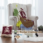 A Pirates Life SC (Single Crochet) Throw Blanket & Pillow Set Graphghan Crochet Pattern - PDF Download