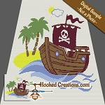 A Pirates Life TSS (Tunisian Simple Stitch) Right Handed Throw Blanket Graphghan Crochet Pattern