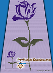 A Rose is a Rose C2C (Corner to Corner) Twin Sized Blanket Graphghan Crochet Pattern - PDF Download