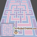 A Square Knot SC (Single Crochet) Throw Blanket Graphghan Crochet Pattern - PDF Download