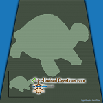 A Turtles Shadow SC (Single Crochet) Throw Blanket Graphghan Crochet Pattern - PDF Download