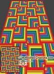 A Walk Through the Rainbow SC (Single Crochet) Twin Blanket Graphghan Crochet Pattern