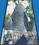 African Grey SC Throw Blanket Graphghan Crochet Pattern - PDF Download