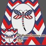 American Dragonfly SC (Single Crochet) Throw Blanket Graphghan Crochet Pattern - PDF Download