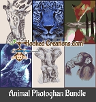 Animal Photoghan SC (Single Crochet) Bundle Crochet Patterns