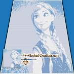Anna SC (Single Crochet) Throw Blanket Graphghan Crochet Pattern - PDF Download