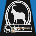 Aries SC (Single Crochet) Throw Sized Blanket Graphghan Crochet Pattern - PDF Download