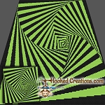 Around the Square SC (Single Crochet) Throw Blanket Crochet Pattern
