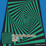 Around the Square SC (Single Crochet) Throw Blanket Graphghan Crochet Pattern - PDF Download