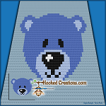 Baby Bear C2C (Corner to Corner) Baby Blanket Graphghan Crochet Pattern - PDF Download