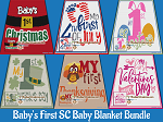 Baby's Firsts Baby Blanket SC (Single Crochet) Bundle Graphghan Crochet Patterns  - PDF Download