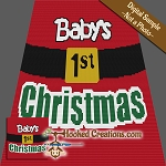 Baby's 1st Christmas SC (Single Crochet) Baby Blanket Graphghan Crochet Pattern - PDF Download