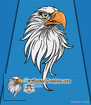 Bald Eagle SC (Single Crochet) Throw Blanket Graphghan Crochet Pattern - PDF Download