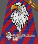 Bald Eagle C2C (Corner to Corner) Throw Blanket Graphghan Crochet Pattern - PDF Download
