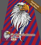 Bald Eagle C2C (Corner to Corner) Queen Sized Graphghan Crochet Pattern - PDF Download