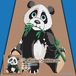Bamboo Panda SC (Single Crochet) Full Sized Blanket Graphghan Crochet Pattern - PDF Download