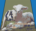 Barnyard Buddies SC (Single Crochet) Throw Blanket Graphghan Crochet Pattern - PDF Download