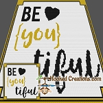 Be-You-tiful Mini C2C (Modified Corner to Corner) Throw Sized Blanket Graphghan Crochet Pattern