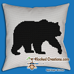 Bear SC ( Single Crochet) Throw Pillow Graphghan Crochet Pattern - PDF Download