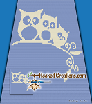 Bending the Branch C2C (Corner to Corner) Full Size Blanket Graphghan Crochet Pattern - PDF Download