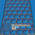 Blue Bricks C2C (Corner to Corner) Throw Blanket Graphghan Crochet Pattern - PDF Download