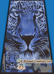 Blue Cheetah TSS (Tunisian Simple Stitch) Right Handed Twin Blanket Graphghan Crochet Pattern - PDF Download