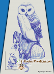 Blue Owl SC (Single Crochet) Twin Blanket Graphghan Crochet Pattern - PDF Download
