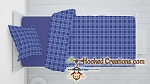 Blue Plaid C2C (Corner to Corner) Twin Blanket & SC (Single Crochet) Standard Pillow Set Graphghan Crochet Pattern - PDF Download