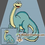 Brachiosaurus SC (Single Crochet) Throw Blanket Graphghan Crochet Pattern - PDF Download