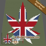 British Weed SC (Single Crochet) Throw Sized Blanket Graphghan Crochet Pattern - PDF Download