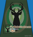 Buck C2C (Corner to Corner) Full Blanket Graphghan Crochet Pattern - PDF Download