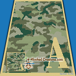 Camouflage Alphabet - A SC (Single Crochet) Baby Blanket Graphghan Crochet Pattern - PDF Download