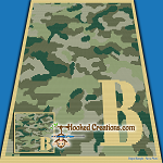 Camouflage Alphabet - B SC (Single Crochet) Baby Blanket Graphghan Crochet Pattern  - PDF Download