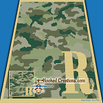 Camouflage Alphabet - R SC (Single Crochet) Baby Blanket Graphghan Crochet Pattern - PDF Download