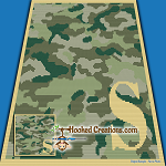 Camouflage Alphabet - S SC (Single Crochet) Baby Blanket Graphghan Crochet Pattern - PDF Download