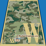 Camouflage Alphabet - W SC (Single Crochet) Baby Blanket Graphghan Crochet Pattern - PDF Download