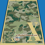Camouflage Alphabet - X SC (Single Crochet) Baby Blanket Graphghan Crochet Pattern - PDF Download