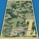 Camouflage Alphabet - Z SC (Single Crochet) Baby Blanket Graphghan Crochet Pattern - PDF Download