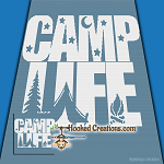 Camp Life SC (Single Crochet) Throw Size Blanket Graphghan Crochet Pattern - PDF Download