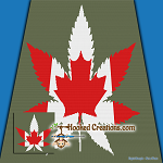 Canadian Weed SC (Single Crochet) Throw Sized Blanket Graphghan Crochet Pattern - PDF Download
