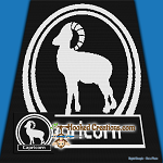 Capricorn SC (Single Crochet) Throw Sized Blanket Graphghan Crochet Pattern - PDF Download