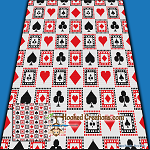 Card Shark SC (Single Crochet) Throw Blanket Graphghan Crochet Pattern - PDF Download