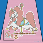 Carousel SC (Single Crochet) Baby Blanket Graphghan Crochet Pattern - PDF Download