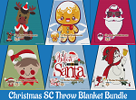 Christmas Throw Blanket SC (Single Crochet) Bundle Graphghan Crochet Patterns  - PDF Download