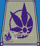 Circle of Weed C2C (Corner to Corner) Throw Blanket Graphghan Crochet Pattern - PDF Download