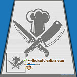 Cleaver Chef SC (Single Crochet) Throw Blanket Graphghan Crochet Pattern - PDF Download