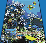 Coral Reef SC (Single Crochet) King Blanket Graphghan Crochet Pattern - PDF Download