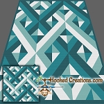Criss Crossed TSS (Tunisian Simple Stitch)-Right Handed Throw Blanket Graphghan Crochet Pattern - PDF Download