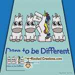Dare to be Different SC (Single Crochet) Throw Blanket Graphghan Crochet Pattern - PDF Download