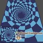 Down The Hole SC (Single Crochet) Throw Blanket Graphghan Crochet Pattern